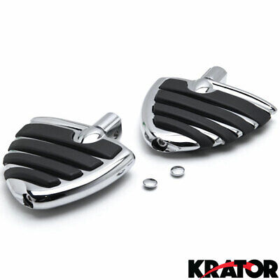 $51.99 • Buy Suzuki Boulevard Volusia M109R Highway Chrome Tour Wing Style Foot Rests / Pegs