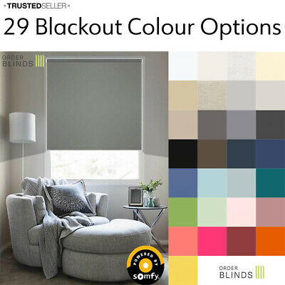 Electric Roller Blinds - Blackout Roller Blinds Made Using Somfy Motors • 125.99£