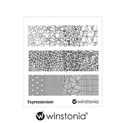 $4.95 • Buy Winstonia Nail Art Stamping Image Plate EXPRESSIONISM Abstract Template Stencils