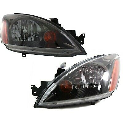 $147.41 • Buy Headlight Set For 2004-2007 Mitsubishi Lancer Left And Right Black Housing 2Pc