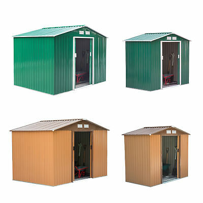 Garden Shed Storage Large Yard Store Door Metal Roof Building Tool Box Container • 169.99£