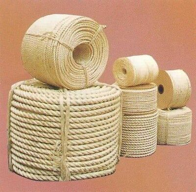 New Natural Sisal Rope Coils, Cats, Garden, Decking, Pets, Cat Scratching Post • 3.99£