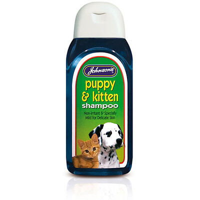 New Johnson's Puppy And Kitten Shampoo Non-Irritant For All Breeds! - 200ml • 6.99£