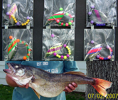 Willowleaf #5 Lake Erie Walleye Candy Worm Harness (1) Set (6) Harnesses  • 22.75$