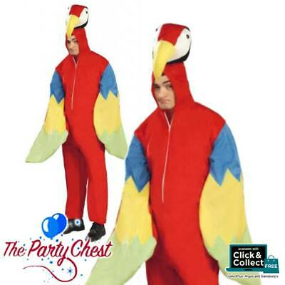 DELUXE ADULT PARROT ANIMAL COSTUME WITH HEAD Bird Pirate Fancy Dress Outfit 0303 • 27.95£