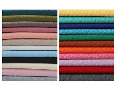 £6.25 • Buy Quilted Knit Jersey Fabric Double Layer Knitted,Harlequin Diamond Shape,Insulate