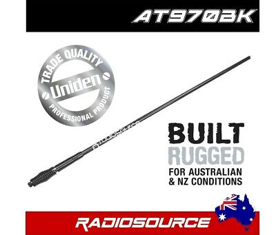AU199 • Buy UNIDEN AT970BK 6.6dB BLACK ANTENNA PACK KIT UHF CB RADIO BULL BAR H/DUTY