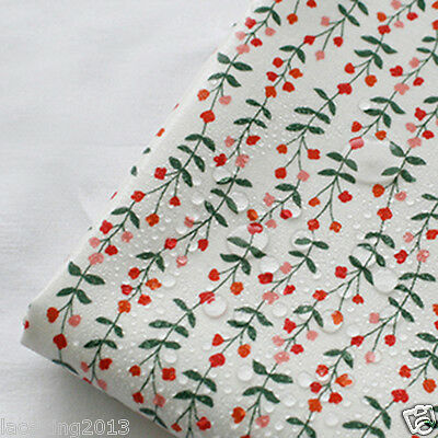 Laminated Cotton Fabric By The Yard 44  Wide Cozy Floral White Flower Laceking • 12£