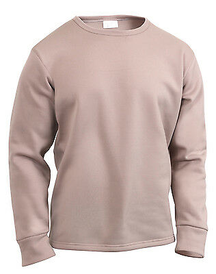 $25.99 • Buy Military Ecwcs Top Winter Under Shirt Base Layer Polyester Crew Neck Rothco 6118