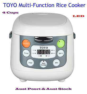 AU73.15 • Buy TOYO Brand Multi-Function Rice Cooker With LED Display MB-FS20S (4 Cups/2.0L)