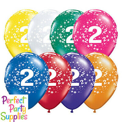 AU1 • Buy 2nd Birthday Party Supplies Star 1x 28cm Balloon Decorations Red Blue Purple