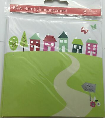 New Home Announcement Pack Of 8 Cards And Envelopes • 4.20£