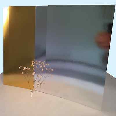 A4 SILVER / GOLD MIRROR FOIL MIRRI CARD - SINGLE SIDED. Great Value • 2.49£
