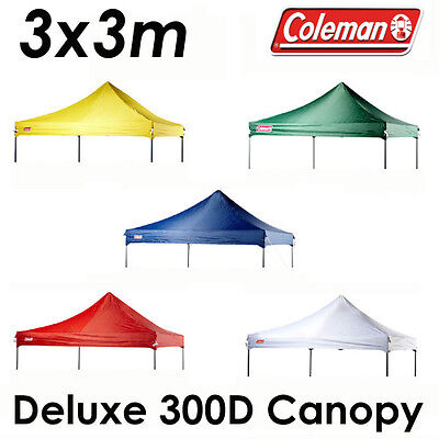 AU74.95 • Buy COLEMAN DELUXE 3x3m GAZEBO 300D CANOPY ROOF REPLACEMENT COVER TOP FITS OZTRAIL