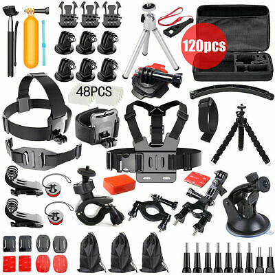 AU29.99 • Buy 120pcs GoPro Hero  9 8 7 6 5 4 Accessories Pack Case Chest Head Floating Monopod