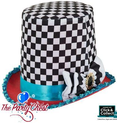 £9.15 • Buy MAD HATTER DELUXE TOP HAT Stovepipe Hat Alice In Wonderland Party Accessory BH65