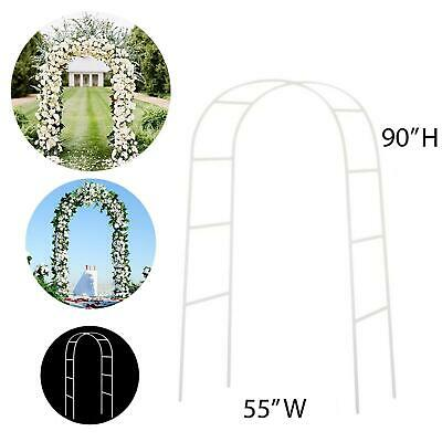 $22.75 • Buy NEW!! 90  WHITE METAL ARCH - Wedding Party Bridal Prom Garden Floral Decoration