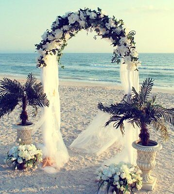 $20.99 • Buy  WHITE METAL ARCH 7.5 FT For Wedding Party Bridal Prom Garden Floral Decoration