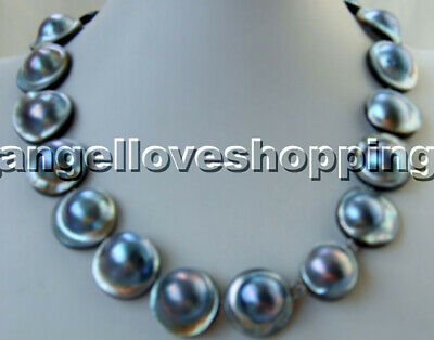 $199.72 • Buy 16-18-20mm Pave MABE Pearl Necklace Magnet Inside Clasp Jewelry Marking Supply