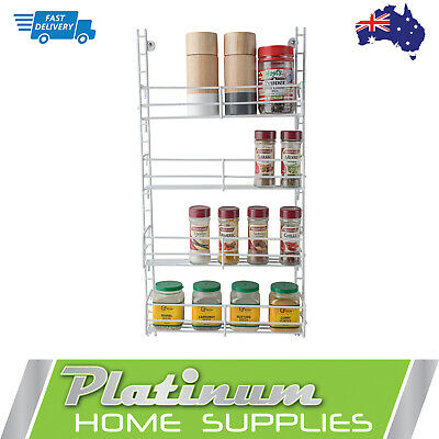 AU27.70 • Buy New Spice Rack 4 Tier Wall Spices Kitchen Pantry  Jar Organiser Hanging Storage