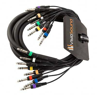 8-Way 3m 6.35mm 1/4  Stereo Jack / Balanced Jack Loom / Patch Multicore Cable • 21.99£