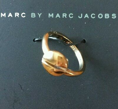 £33.35 • Buy Marc By Marc Jacobs Gold Screw Ring, Size 6, 80096 Sold Out Every Where Rare New