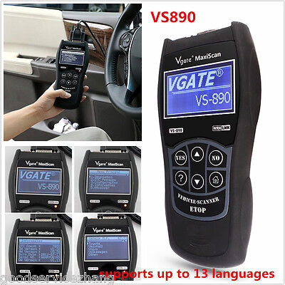 VS890 OBD2 Auto Diagnostic Tool CAN BUS Fault Code Reader Scanner Multi-language • 42.20$