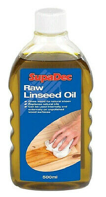 Raw Linseed Oil For Wood Treatment French Polishing Lubricant 500ml • 6.85£