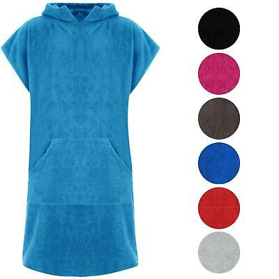 £22.99 • Buy Adults Hooded 100% Cotton Changing Robe Towelling Poncho For Swimming Surf Beach