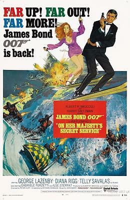 On Her Majesty's Secret Service Bond Vintage Movie Poster A4 A3 Art Print Cinema • 20.05£