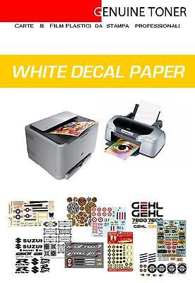 £18.56 • Buy Carta Decalcomanie, Waterslide Decal Paper: 9 A4 Bianchi, Stampa Inkjet E Laser