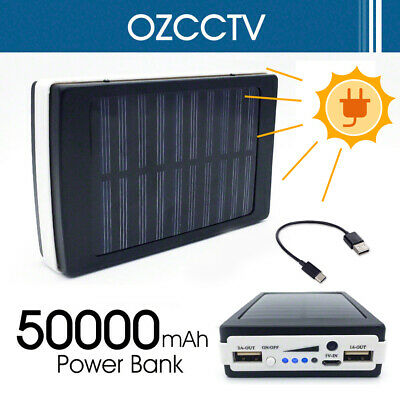 AU21.58 • Buy 50000mAh Portable External Universal Solar Battery Charger Dual USB Power Bank