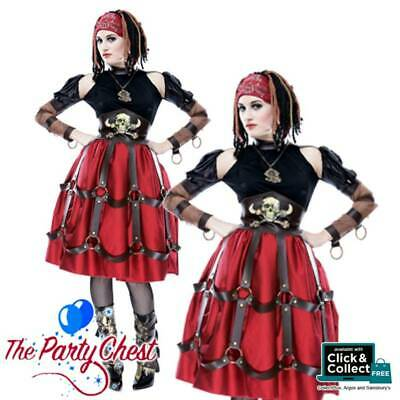 LADIES STEAMPUNK PIRATE WENCH HALLOWEEN COSTUME Pirate Fancy Dress Outfit 789013 • 25.99£