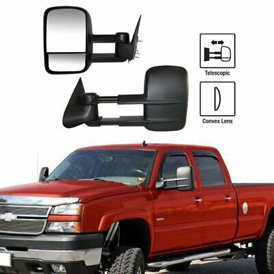 $71.98 • Buy Left+Right For 99-07 Silverado Sierra Extend Telescoping Side Manual Tow Mirrors