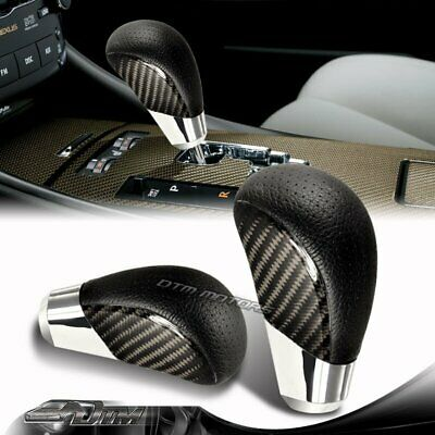 $17.99 • Buy PVC Leather / Real Carbon Fiber Automatic Gear Stick Shift Shifter Knob VIP