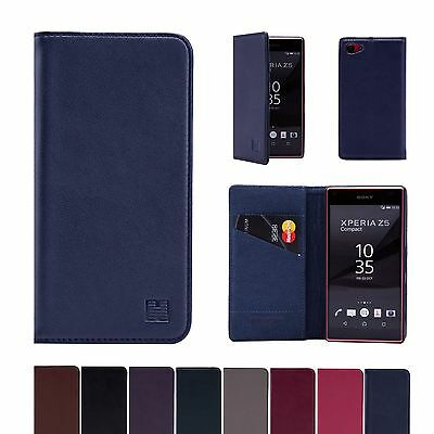 AU26.72 • Buy 32nd Classic Genuine Real Leather Slim Wallet Case Cover For Sony Xperia Models