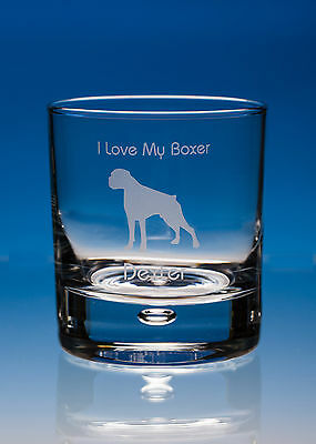 Boxer Dog Lover Gift Personalised Engraved Whisky Glass: Choose Your Message • 15.95£