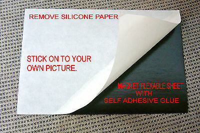 £28.74 • Buy 56 Flexible Magnet Sheet Self Adhesiveֳ One Side Silicone Paper 10X15 Cm ֵ 4X6