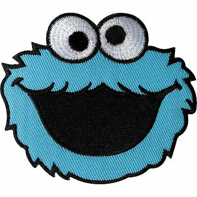 Sesame Street Cookie Monster Patch Embroidered Iron On / Sew On Clothes Badge • 2.79£