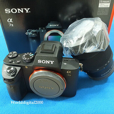 AU1655.64 • Buy SONY A7II A7M2 ILCE-7M2K -Body+FE28-70mm Lens Full Frame 11 Languages Selectable
