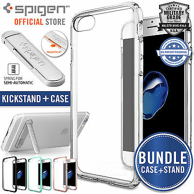 AU24.99 • Buy Genuine SPIGEN ULTRA HYBRID Case +U100 Kickstand For Apple IPhone 8/7, 7/8 Plus