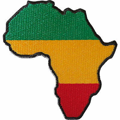 Embroidered Iron On Patch Sew On Badge For Clothes Bags Rasta Reggae Flag Africa • 2.79£