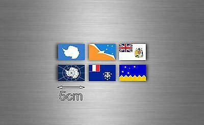 £2.73 • Buy Set 6x Sticker Antartic Flag Scrapbooking Country Collection Stamp National R2