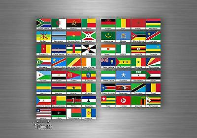 £4.15 • Buy Set 60x Sticker Africa Flag Scrapbooking Country Collection Stamp National 1,5cm