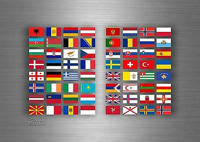 £3.89 • Buy Set 64x Sticker European Europe Flag Scrapbooking Country Collection Stamp 1,5cm