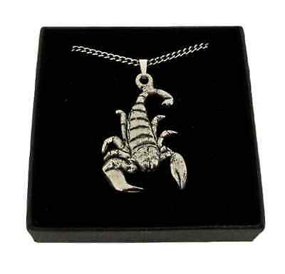 Star Sign Scorpio Pendant Handcrafted In Solid Pewter In The UK + Free GiftBox • 8.99£