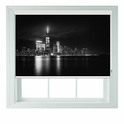 New York @ Night Photo Blackout Roller Blinds For Kitchen Bathroom Various Sizes • 65£
