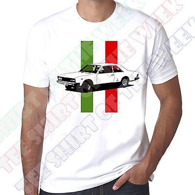 Personalised Number Plate Fiat 130 Coupe Italian Flag Mens 100% Cotton T-shirt  • 11.99£