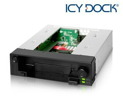 New ICY Dock MB971SP-B DuoSwap 2.5  + 3.5  SATA SSD HDD Hard Drive Mobile Rack • 53.99£