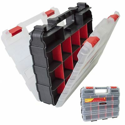 £10.79 • Buy 34 Compartment Professional Tool Organiser Case Box Storage Double Sided